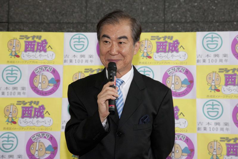 _f3k8556 9月10日(月)、六代 桂文枝と臣永正廣西成区長が出席する「西成区イメージアッ